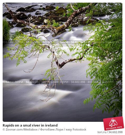 Rapids on a smal river in ireland. Стоковое фото, фотограф Zoonar.com/Mediabox / easy Fotostock / Фотобанк Лори