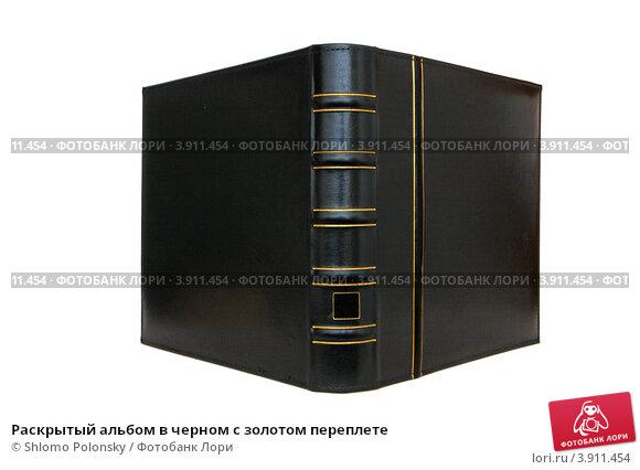Раскрытый альбом в черном с золотом переплете. Стоковое фото, фотограф Shlomo Polonsky / Фотобанк Лори