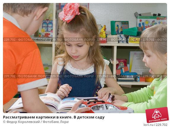 Купить «Рассматриваем картинки в книге. В детском саду», фото № 229702, снято 20 марта 2008 г. (c) Федор Королевский / Фотобанк Лори