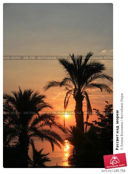 Рассвет над  морем, фото № 245758, снято 14 августа 2007 г. (c) Елена Блохина / Фотобанк Лори
