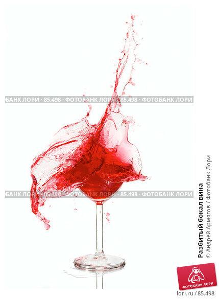Разбитый бокал вина, фото № 85498, снято 14 августа 2007 г. (c) Андрей Армягов / Фотобанк Лори