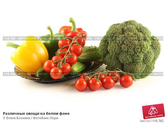 Различные овощи на белом фоне, фото № 118782, снято 24 июля 2007 г. (c) Елена Блохина / Фотобанк Лори