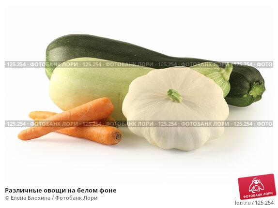 Различные овощи на белом фоне, фото № 125254, снято 13 июля 2007 г. (c) Елена Блохина / Фотобанк Лори