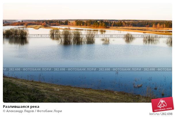 Разлившаяся река, фото № 282698, снято 10 мая 2008 г. (c) Александр Лядов / Фотобанк Лори