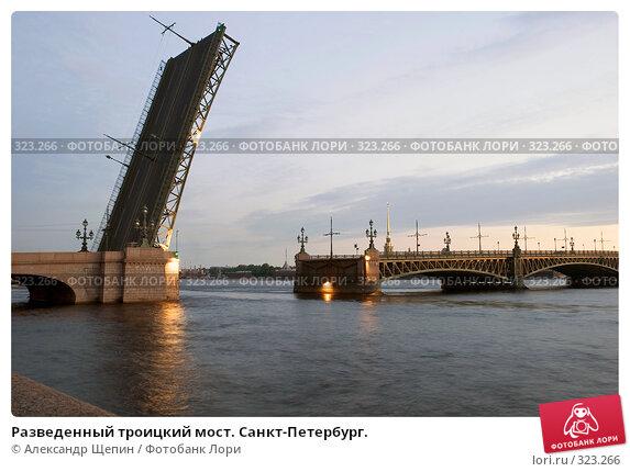 Купить «Разведенный троицкий мост. Санкт-Петербург.», эксклюзивное фото № 323266, снято 14 июня 2008 г. (c) Александр Щепин / Фотобанк Лори