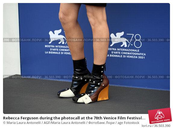 Rebecca Ferguson during the photocall at the 78th Venice Film Festival... Редакционное фото, фотограф Maria Laura Antonelli / AGF/Maria Laura Antonelli / age Fotostock / Фотобанк Лори