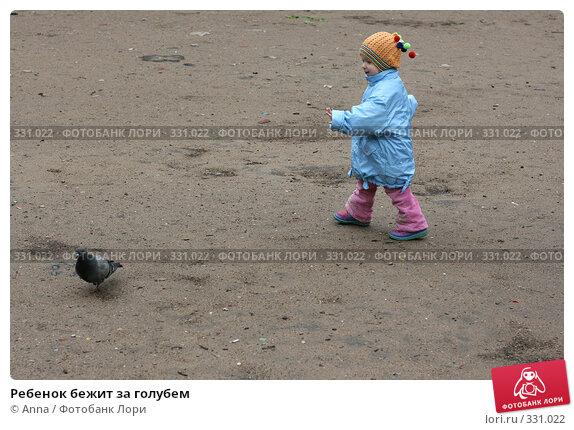 Ребенок бежит за голубем, фото № 331022, снято 23 мая 2008 г. (c) Anna / Фотобанк Лори