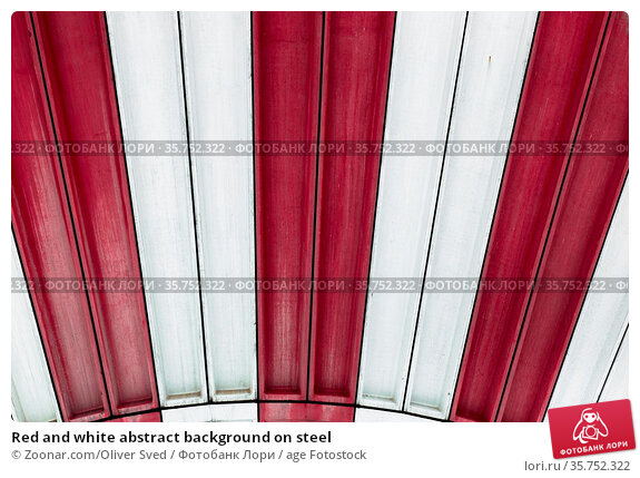 Red and white abstract background on steel. Стоковое фото, фотограф Zoonar.com/Oliver Sved / age Fotostock / Фотобанк Лори