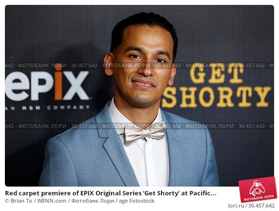 Red carpet premiere of EPIX Original Series 'Get Shorty' at Pacific... (2017 год). Редакционное фото, фотограф Brian To / WENN.com / age Fotostock / Фотобанк Лори