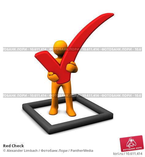Red Check. Стоковое фото, фотограф Alexander Limbach / PantherMedia / Фотобанк Лори