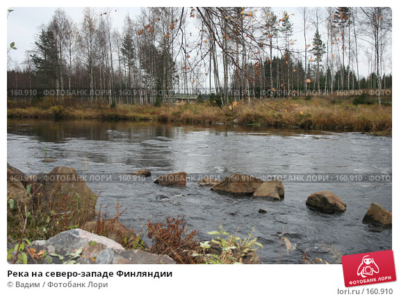 Река на северо-западе Финляндии, фото № 160910, снято 24 октября 2007 г. (c) Вадим / Фотобанк Лори