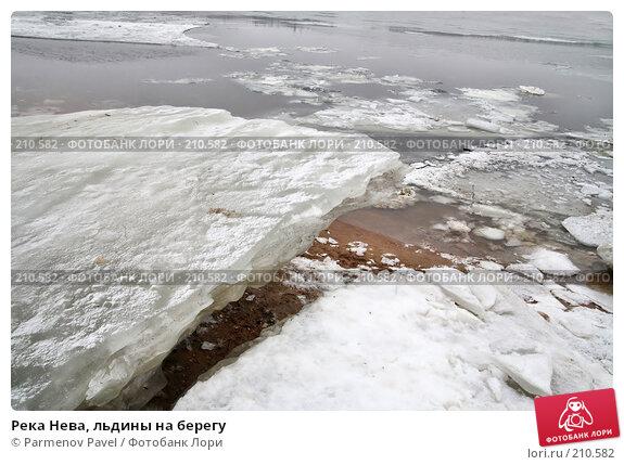 Река Нева, льдины на берегу, фото № 210582, снято 7 февраля 2008 г. (c) Parmenov Pavel / Фотобанк Лори