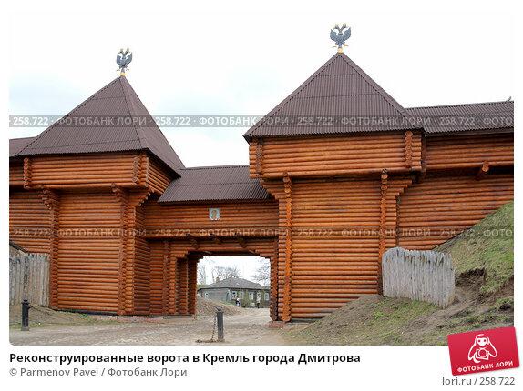Реконструированные ворота в Кремль города Дмитрова, фото № 258722, снято 19 апреля 2008 г. (c) Parmenov Pavel / Фотобанк Лори