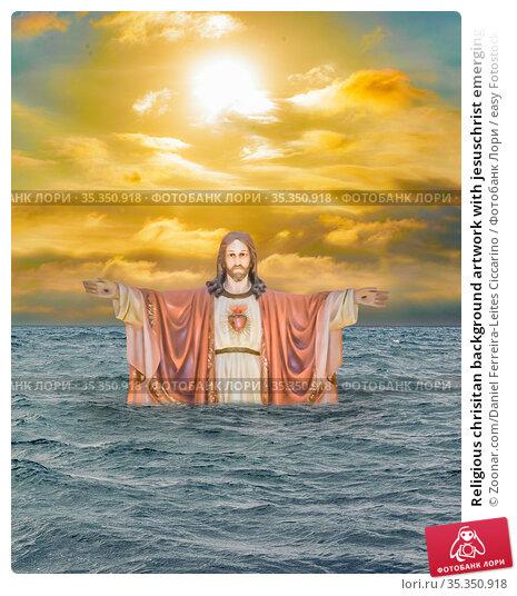 Religious chrisitan background artwork with jesuschrist emerging from... Стоковое фото, фотограф Zoonar.com/Daniel Ferreira-Leites Ciccarino / easy Fotostock / Фотобанк Лори