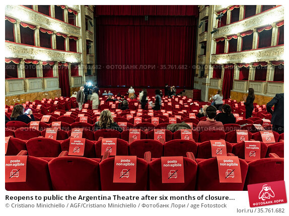Reopens to public the Argentina Theatre after six months of closure... Редакционное фото, фотограф Cristiano Minichiello / AGF/Cristiano Minichiello / age Fotostock / Фотобанк Лори