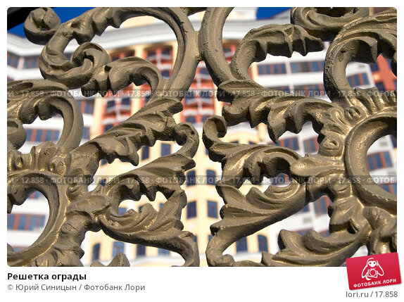 Решетка ограды, фото № 17858, снято 26 января 2007 г. (c) Юрий Синицын / Фотобанк Лори