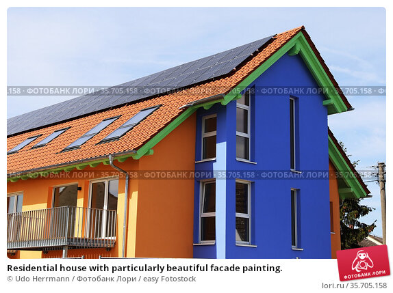 Residential house with particularly beautiful facade painting. Стоковое фото, фотограф Udo Herrmann / easy Fotostock / Фотобанк Лори