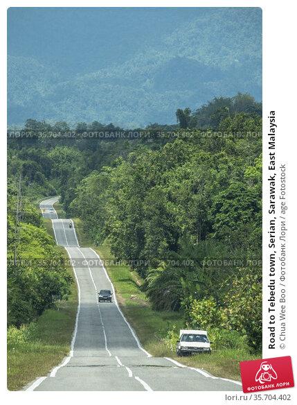Road to Tebedu town, Serian, Sarawak, East Malaysia. Стоковое фото, фотограф Chua Wee Boo / age Fotostock / Фотобанк Лори