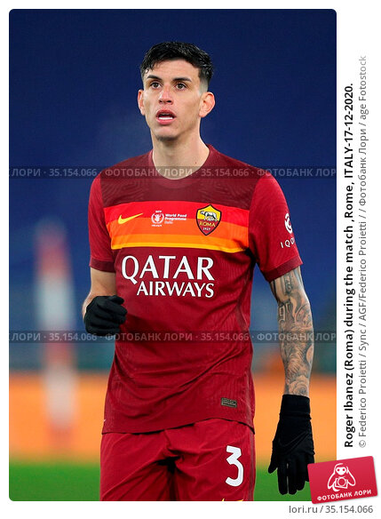 Roger Ibanez (Roma) during the match ,Rome, ITALY-17-12-2020. Редакционное фото, фотограф Federico Proietti / Sync / AGF/Federico Proietti / / age Fotostock / Фотобанк Лори