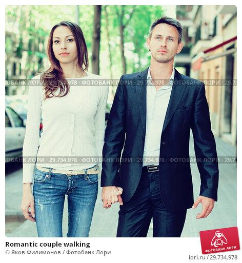 Купить «Romantic couple walking», фото № 29734978, снято 11 апреля 2017 г. (c) Яков Филимонов / Фотобанк Лори