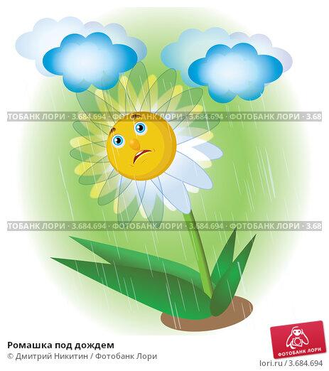 Купить «Ромашка под дождем», иллюстрация № 3684694 (c) Дмитрий Никитин / Фотобанк Лори