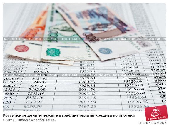 Купить «Российские деньги лежат на графике оплаты кредита по ипотеки», эксклюзивное фото № 21760478, снято 8 февраля 2016 г. (c) Игорь Низов / Фотобанк Лори