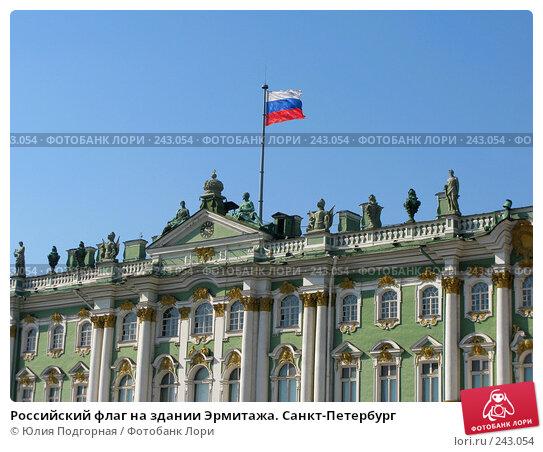 Российский флаг на здании Эрмитажа. Санкт-Петербург, фото № 243054, снято 5 апреля 2008 г. (c) Юлия Селезнева / Фотобанк Лори