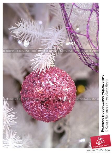 Купить «Розовое новогоднее украшение», фото № 1855654, снято 16 декабря 2007 г. (c) Ольга Липунова / Фотобанк Лори