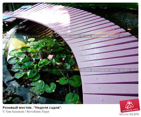 """Розовый мостик. """"Неделя садов""""., фото № 62874, снято 17 июля 2007 г. (c) Тим Казаков / Фотобанк Лори"""