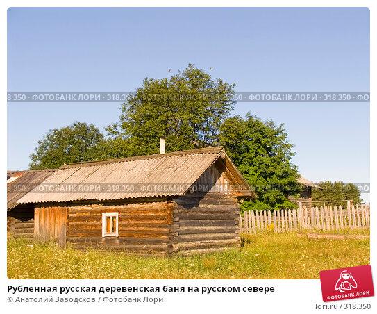 Рубленная русская деревенская баня на русском севере, фото № 318350, снято 1 августа 2006 г. (c) Анатолий Заводсков / Фотобанк Лори