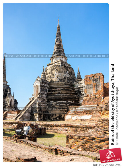 Купить «Ruins of the old city of Ayutthaya, Thailand», фото № 28581294, снято 27 января 2017 г. (c) Юлия Белоусова / Фотобанк Лори
