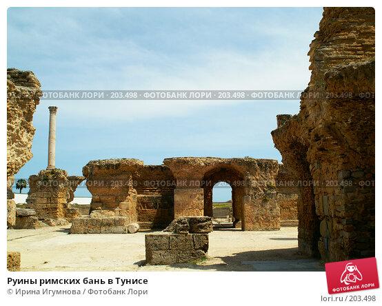 Руины римских бань в Тунисе, фото № 203498, снято 12 июня 2006 г. (c) Ирина Игумнова / Фотобанк Лори