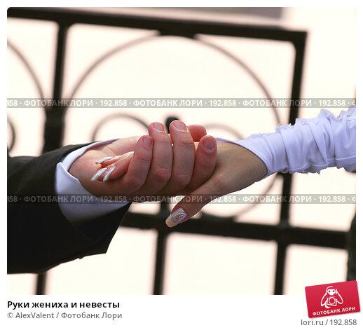 Руки жениха и невесты, фото № 192858, снято 21 октября 2016 г. (c) AlexValent / Фотобанк Лори
