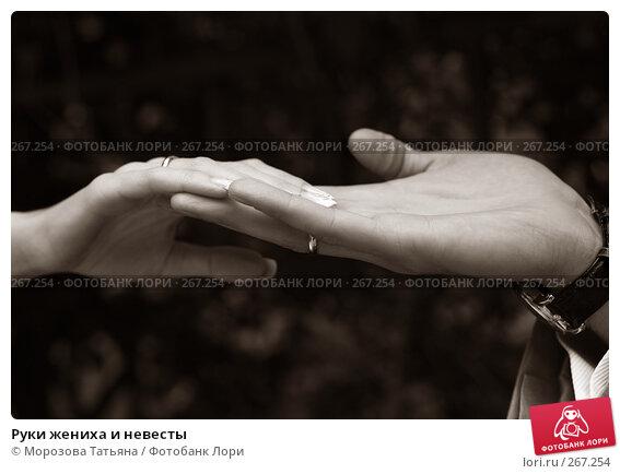 Руки жениха и невесты, фото № 267254, снято 8 сентября 2007 г. (c) Морозова Татьяна / Фотобанк Лори