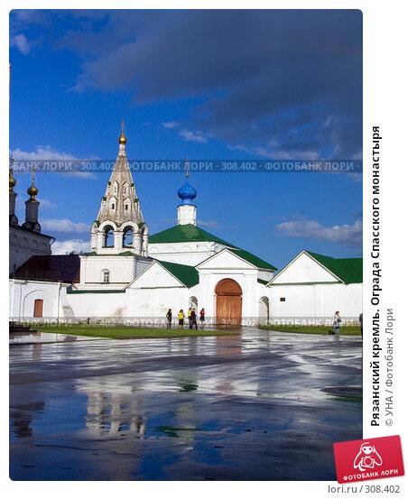 Купить «Рязанский кремль. Ограда Спасского монастыря», фото № 308402, снято 30 мая 2008 г. (c) УНА / Фотобанк Лори
