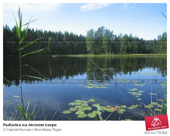 Рыбалка на лесном озере, фото № 74362, снято 11 августа 2007 г. (c) Сергей Костин / Фотобанк Лори