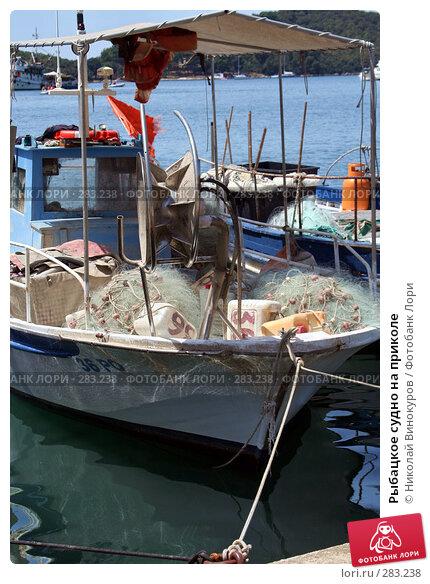 Рыбацкое судно на приколе, эксклюзивное фото № 283238, снято 10 декабря 2016 г. (c) Николай Винокуров / Фотобанк Лори