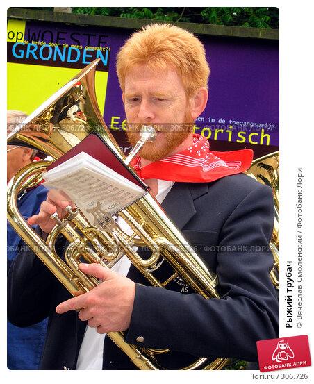 Рыжий трубач, фото № 306726, снято 4 июля 2004 г. (c) Вячеслав Смоленский / Фотобанк Лори