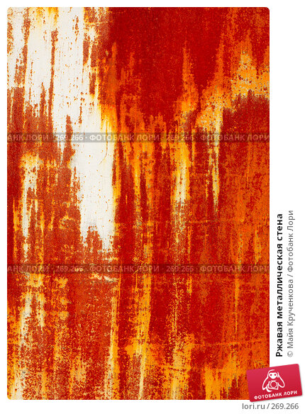 Ржавая металлическая стена, фото № 269266, снято 11 апреля 2008 г. (c) Майя Крученкова / Фотобанк Лори