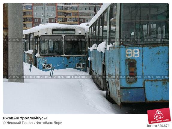 Ржавые троллейбусы, фото № 20874, снято 2 марта 2007 г. (c) Николай Гернет / Фотобанк Лори