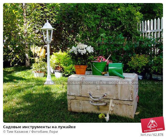 Садовые инструменты на лужайке, фото № 62878, снято 17 июля 2007 г. (c) Тим Казаков / Фотобанк Лори
