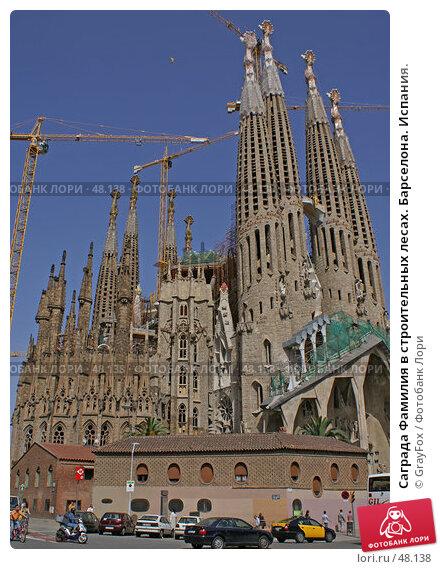 Саграда Фамилия в строительных лесах. Барселона. Испания., фото № 48138, снято 24 мая 2007 г. (c) GrayFox / Фотобанк Лори