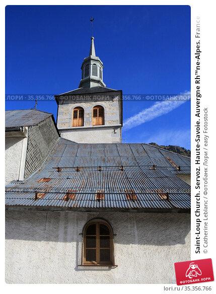 Saint-Loup Church. Servoz. Haute-Savoie. Auvergne Rh™ne-Alpes. France... Стоковое фото, фотограф Catherine Leblanc / easy Fotostock / Фотобанк Лори