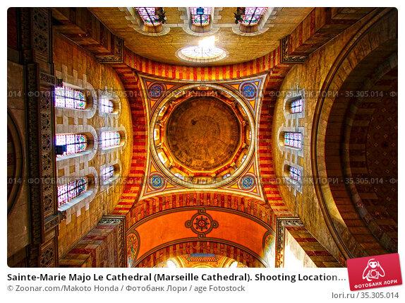 Sainte-Marie Majo Le Cathedral (Marseille Cathedral). Shooting Location... Стоковое фото, фотограф Zoonar.com/Makoto Honda / age Fotostock / Фотобанк Лори