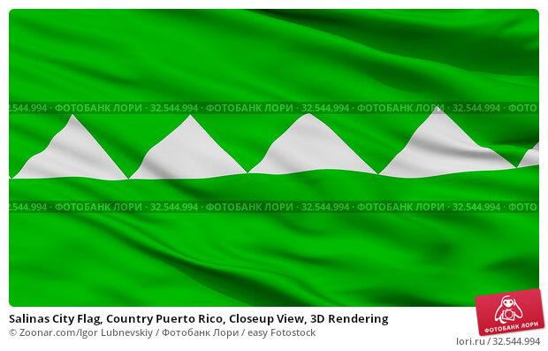 Купить «Salinas City Flag, Country Puerto Rico, Closeup View, 3D Rendering», фото № 32544994, снято 7 декабря 2019 г. (c) easy Fotostock / Фотобанк Лори
