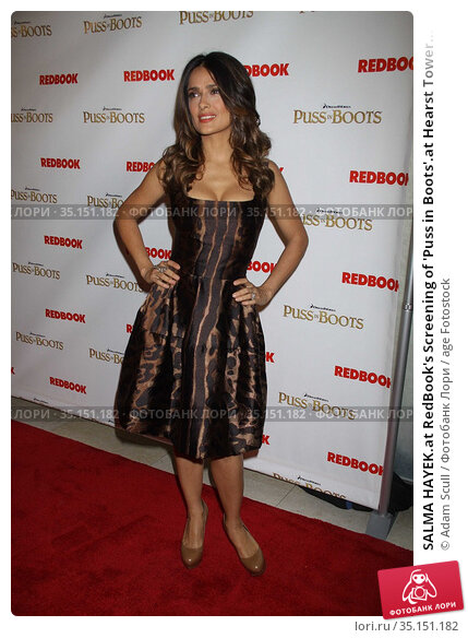 SALMA HAYEK.at RedBook's Screening of 'Puss in Boots'.at Hearst Tower... (2011 год). Редакционное фото, фотограф Adam Scull / age Fotostock / Фотобанк Лори