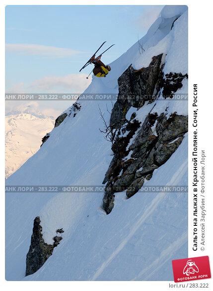 Сальто на лыжах в Красной Поляне. Сочи, Россия, фото № 283222, снято 16 февраля 2007 г. (c) Алексей Зарубин / Фотобанк Лори