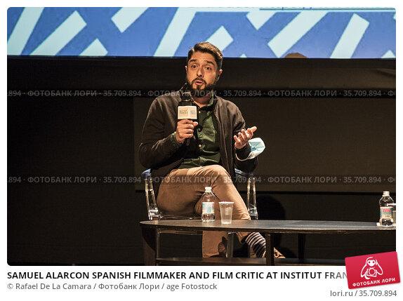 SAMUEL ALARCON SPANISH FILMMAKER AND FILM CRITIC AT INSTITUT FRANCAIS... Редакционное фото, фотограф Rafael De La Camara / age Fotostock / Фотобанк Лори