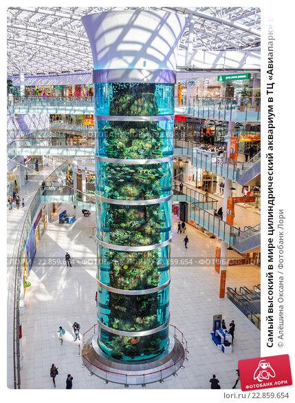 Купить «Самый высокий в мире цилиндрический аквариум в ТЦ «Авиапарк» в  Москве» 67cf75f141c