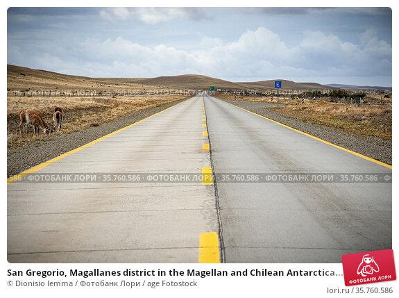 San Gregorio, Magallanes district in the Magellan and Chilean Antarctica... Стоковое фото, фотограф Dionisio Iemma / age Fotostock / Фотобанк Лори